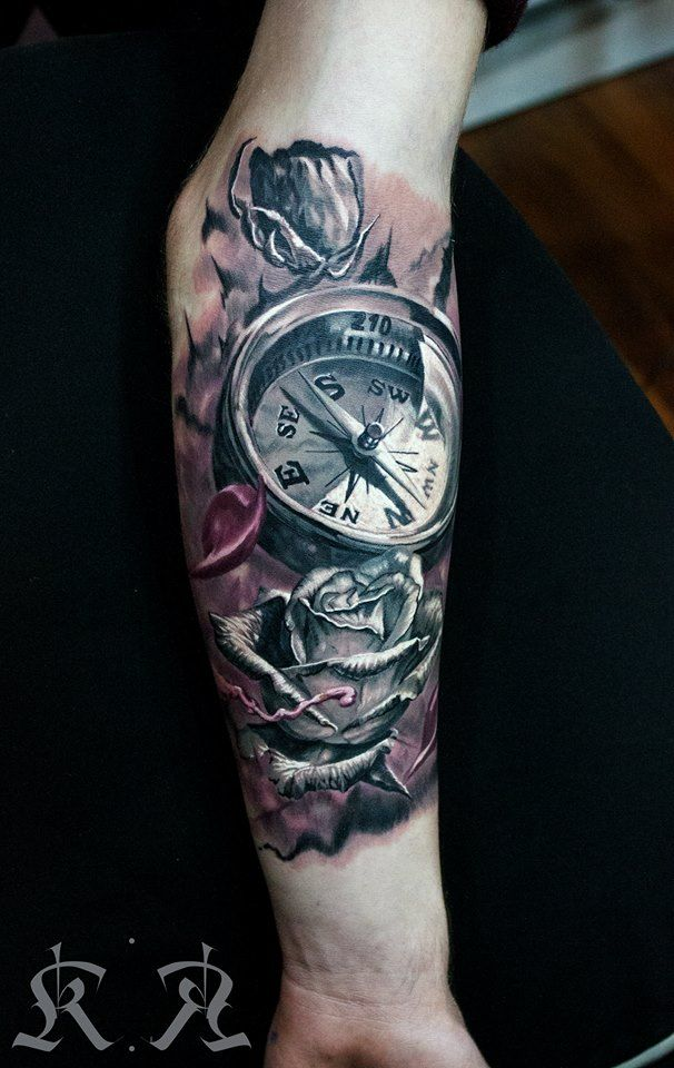 Compass Tattoos for Men - Ideas and Designs for Guys