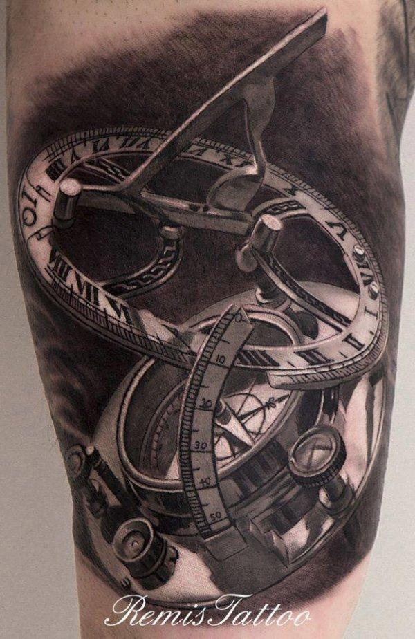 8adc8b384 Compass Tattoos for Men - Ideas and Designs for Guys