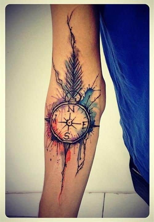 compass tattoos for men ideas and designs for guys. Black Bedroom Furniture Sets. Home Design Ideas