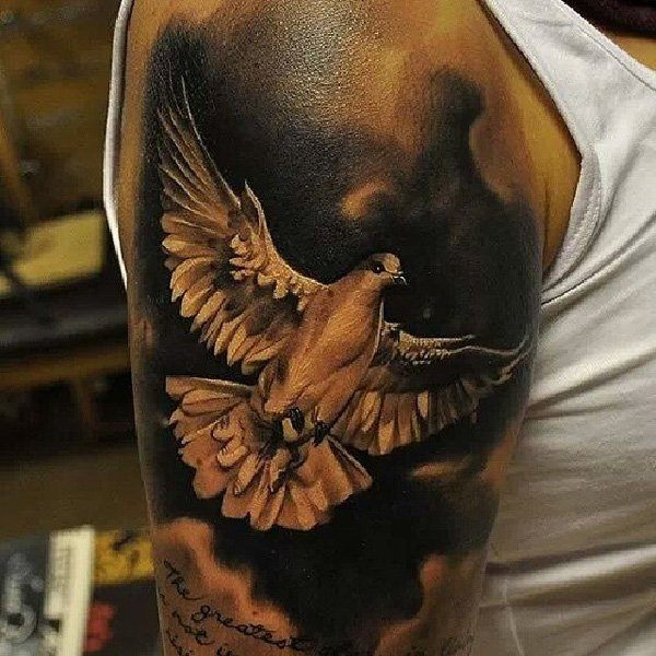 dove tattoos for men ideas and inspirations for guys. Black Bedroom Furniture Sets. Home Design Ideas