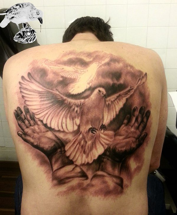 Dove tattoos for men ideas and inspirations for guys for Two doves tattoo