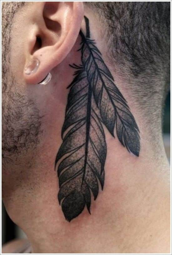 feather tattoos for men ideas and designs for guys. Black Bedroom Furniture Sets. Home Design Ideas