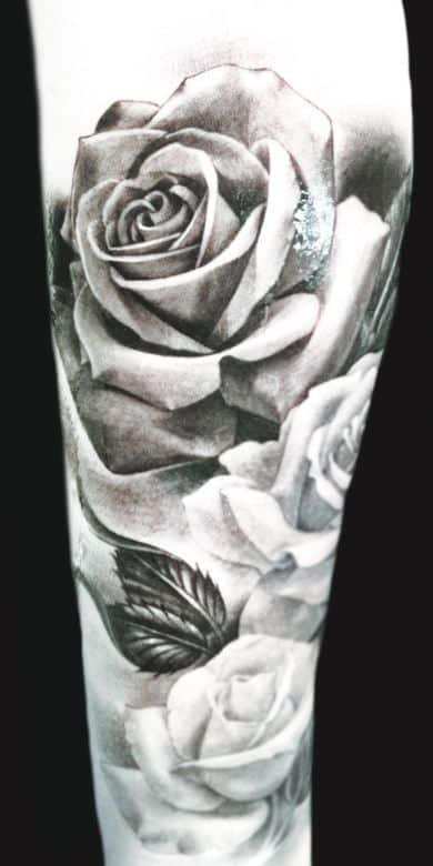 Flower tattoos for men ideas and inspiration for guys for Black and gray rose tattoos