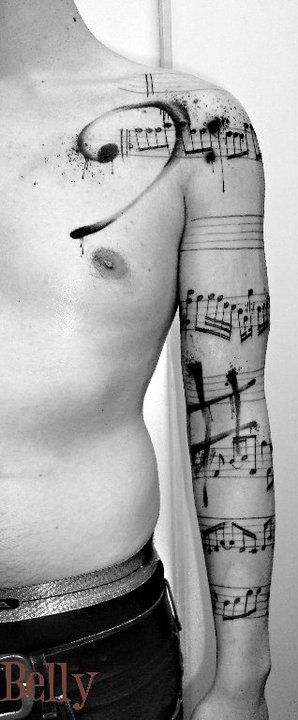 music tattoos for men ideas and inspiration for guys. Black Bedroom Furniture Sets. Home Design Ideas