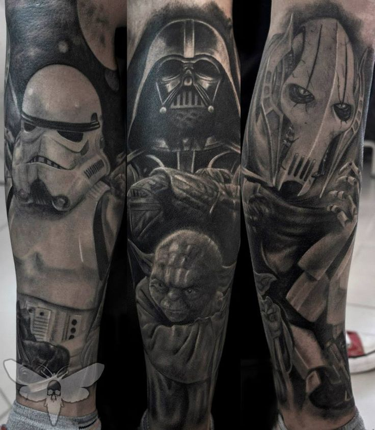 This Is One Of The Best Star Wars Tattoos For Men And Features Darth