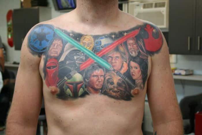 Star wars tattoos for men best designs and ideas for guys for Luke skywalker tattoo