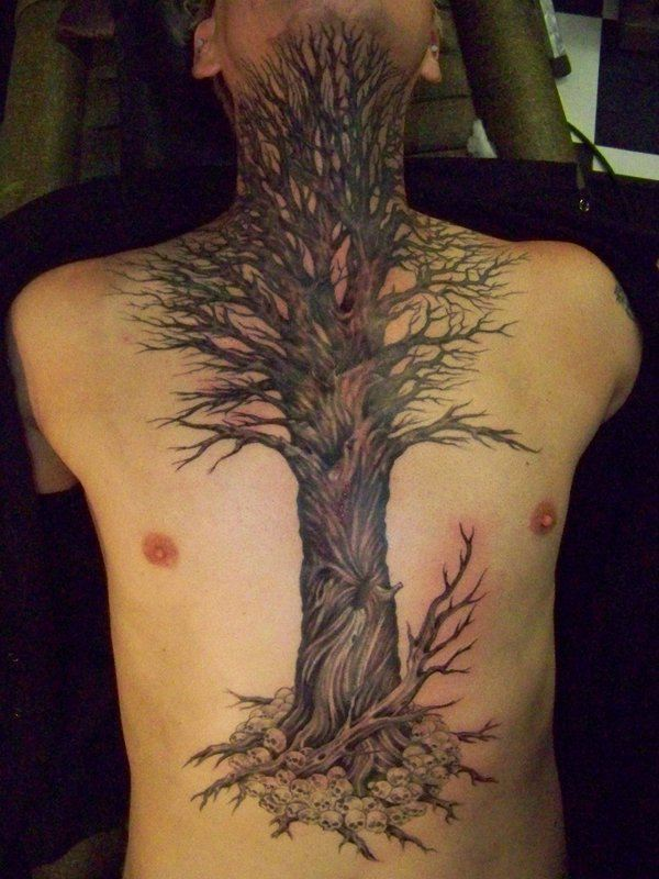 Tree tattoos for men ideas and designs for guys for Apple tree tattoo designs