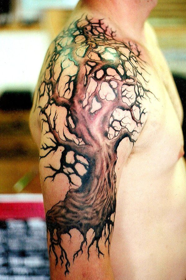 Tree tattoos for men ideas and designs for guys for Death tree tattoo