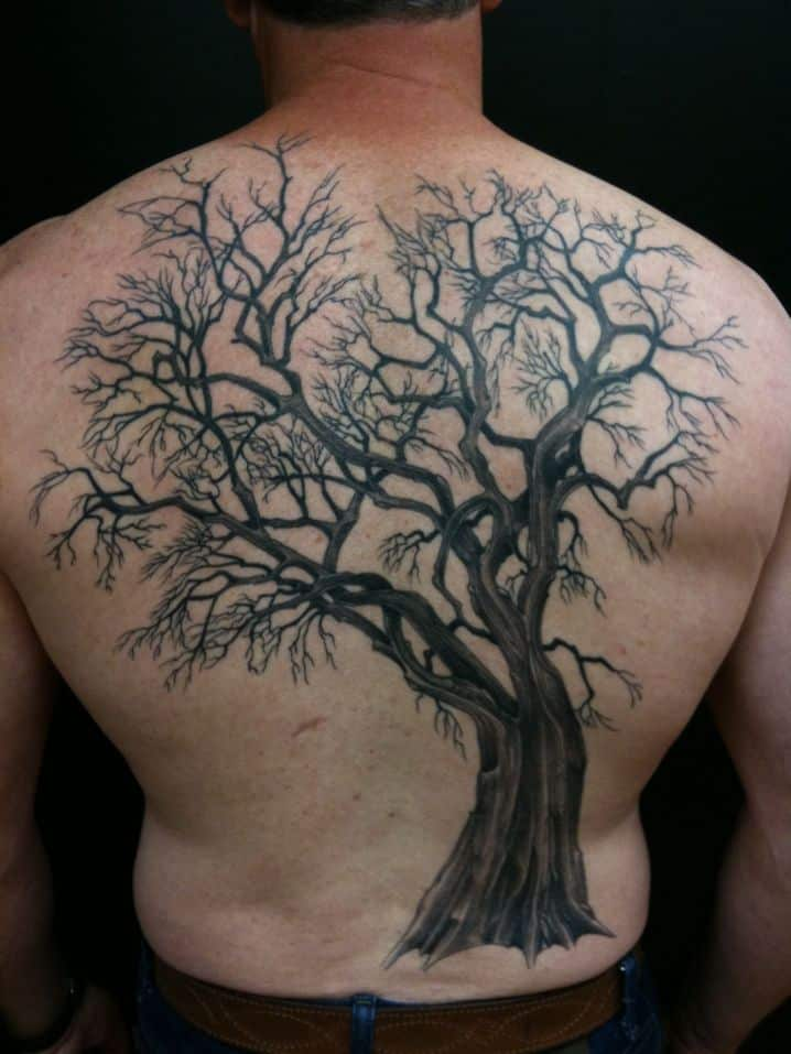 Tree tattoos for men ideas and designs for guys for Tree back tattoo