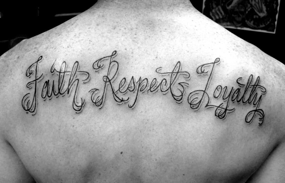 18f82d7d0 Respect Tattoos for Men - Ideas and Inspiration for Guys