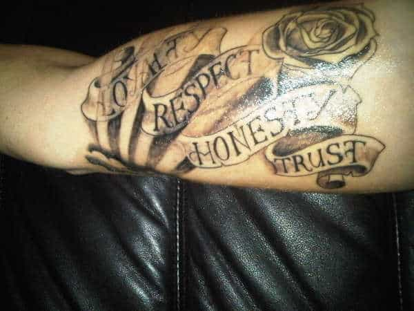 Respect And Loyalty Tattoo Designs