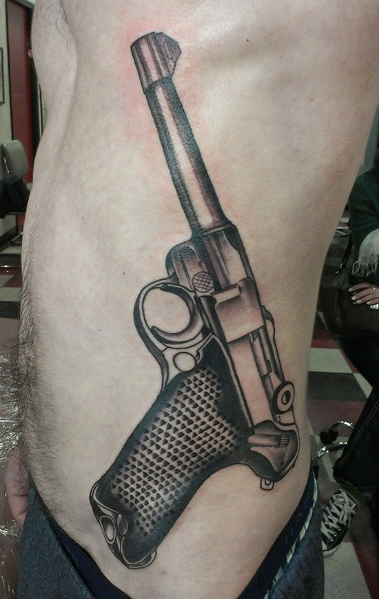 weapon tattoos for men ideas and inspiration for guys. Black Bedroom Furniture Sets. Home Design Ideas