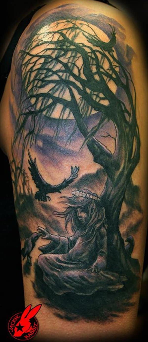 Sun and moon tattoos for men ideas and designs for Black moon tattoo