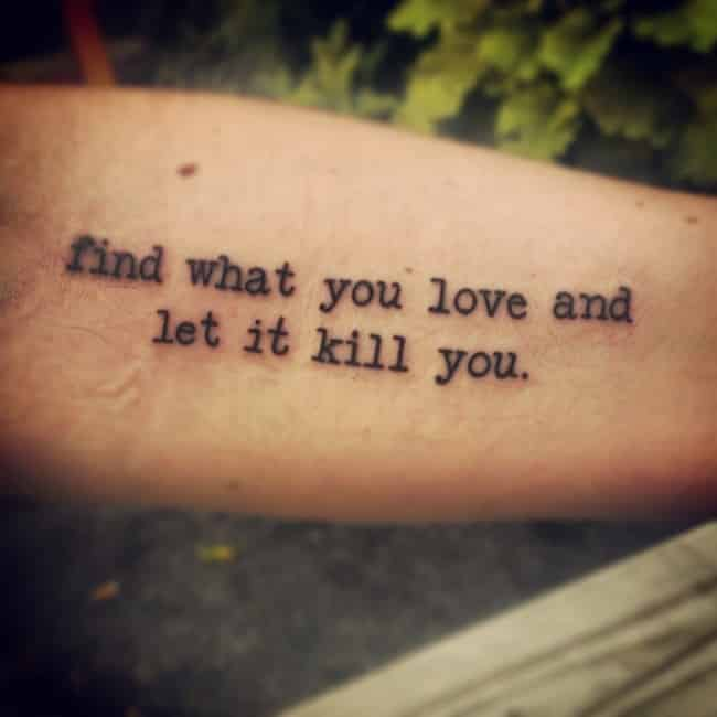Best Tattoo Quotes About Life Endearing Tattoo Quotes For Men  Ideas And Designs For Guys