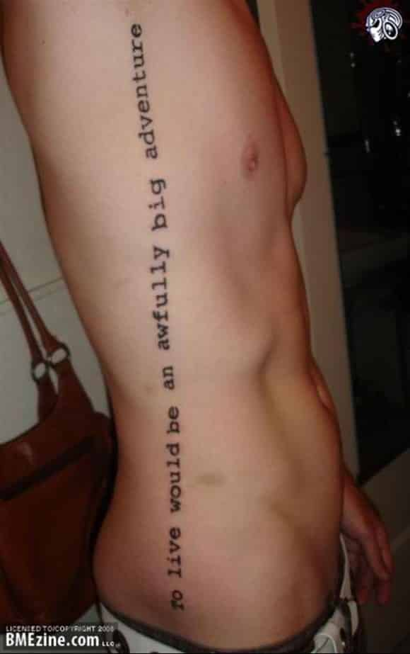 Tattoo quotes for men ideas and designs for guys for Quote tattoo placement