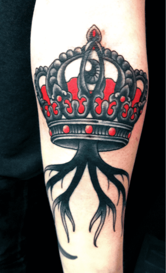 crown tattoos for men design ideas for guys. Black Bedroom Furniture Sets. Home Design Ideas