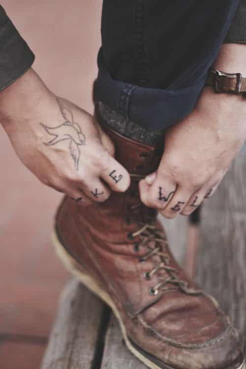 Finger tattoos for men design ideas for guys for Male hand tattoos