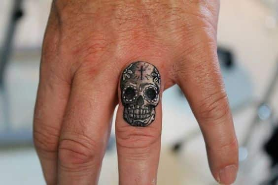 Finger tattoos for men design ideas for guys for Finger tattoo ideas