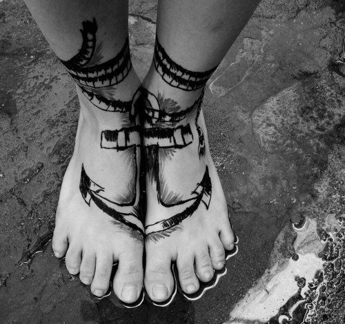 Foot tattoos for men design ideas for guys for Ankle tattoos on men
