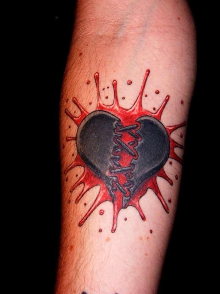 heart tattoos for men design ideas for guys. Black Bedroom Furniture Sets. Home Design Ideas