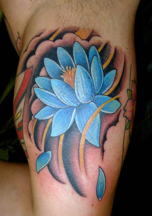 Blue Flower Tattoo Designs: Ideas And Inspiration For Guys