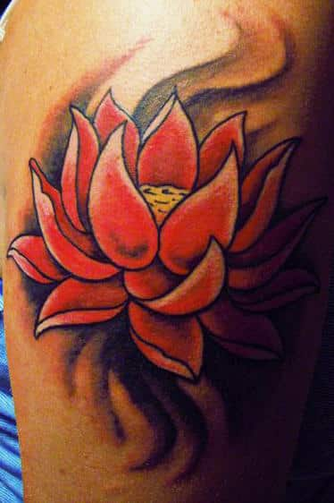 lotus flower tattoos for men ideas and inspiration for guys. Black Bedroom Furniture Sets. Home Design Ideas