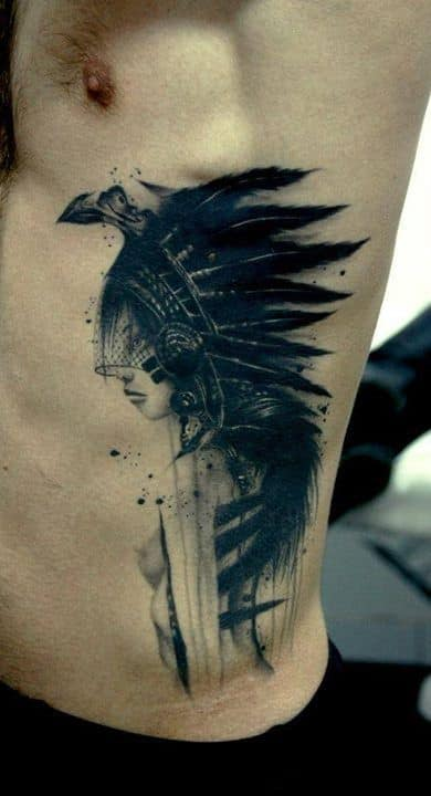 Rib tattoos for men ideas and inspiration for guys for Religious rib tattoos for guys