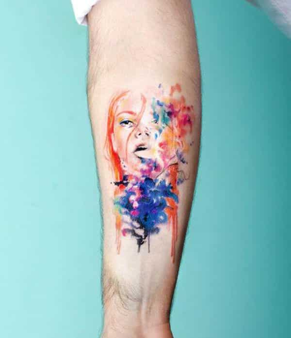Cool Watercolor Tattoos 2017: Ideas And Inspiration For Guys