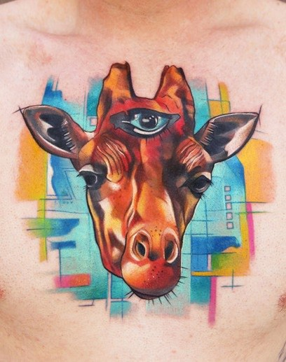 Watercolor Tattoos for Men Ideas and