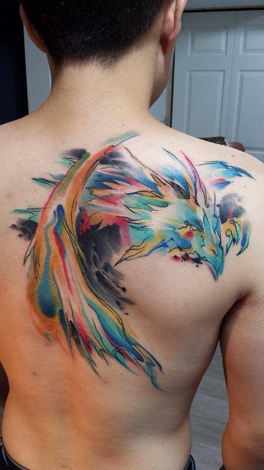 watercolor tattoos for men ideas and inspiration for guys
