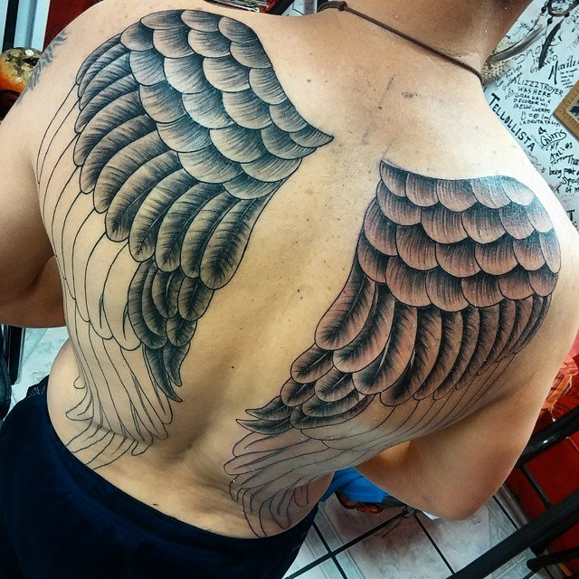 Angel wing tattoos for men ideas and inspiration for guys for Wing tattoo arm