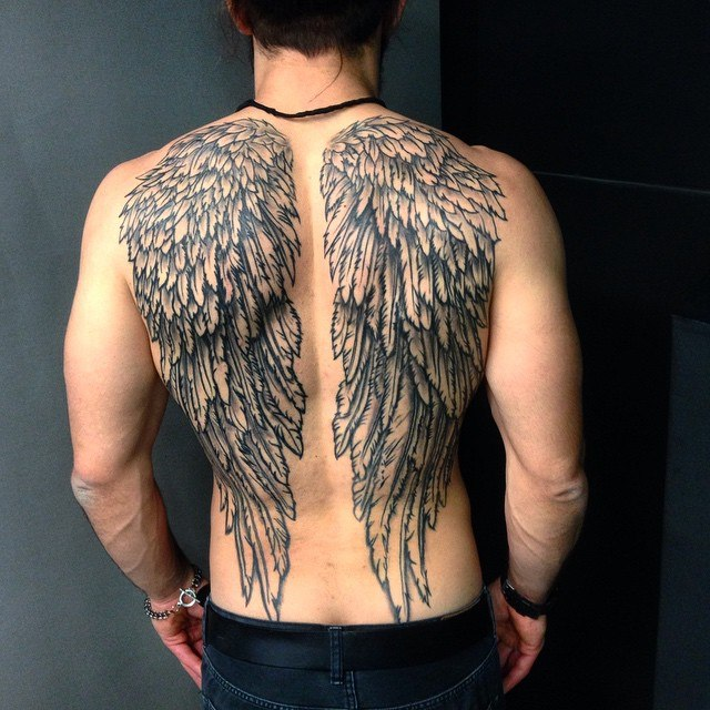 3e031cd4b Angel Wing Tattoos for Men - Ideas and Inspiration for Guys