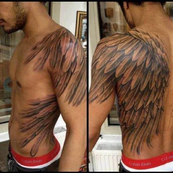 Тату крылья на спине у мужчин значение на зоне