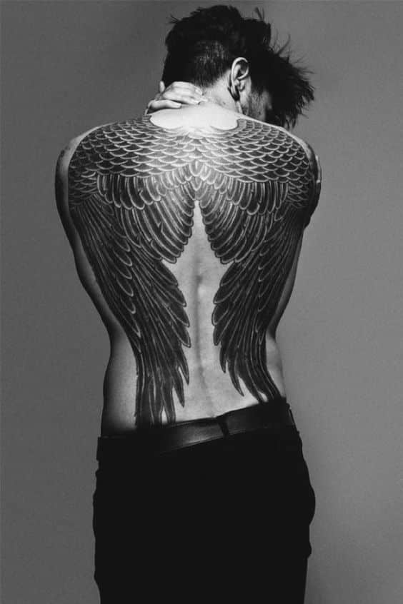 0d38db6a7 Angel Wing Tattoos for Men - Ideas and Inspiration for Guys
