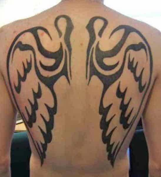 angel wing tattoos for men ideas and inspiration for guys. Black Bedroom Furniture Sets. Home Design Ideas