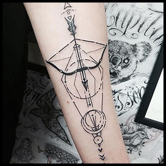 Bow and Arrow Tattoo Ideas for men