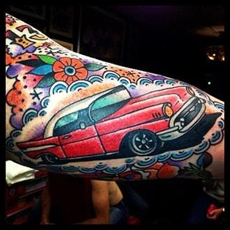 Car Tattoo Ideas for Guys