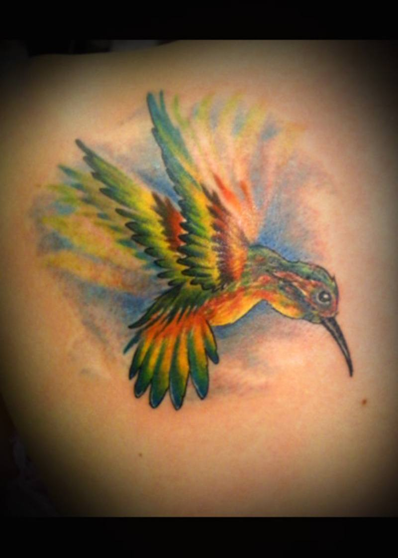 Hummingbird tattoos for men ideas and inspiration for guys for Hummingbird tattoo designs