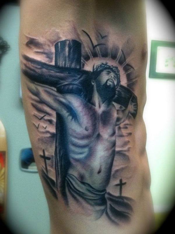 jesus tattoos for men ideas and inspiration for guys. Black Bedroom Furniture Sets. Home Design Ideas