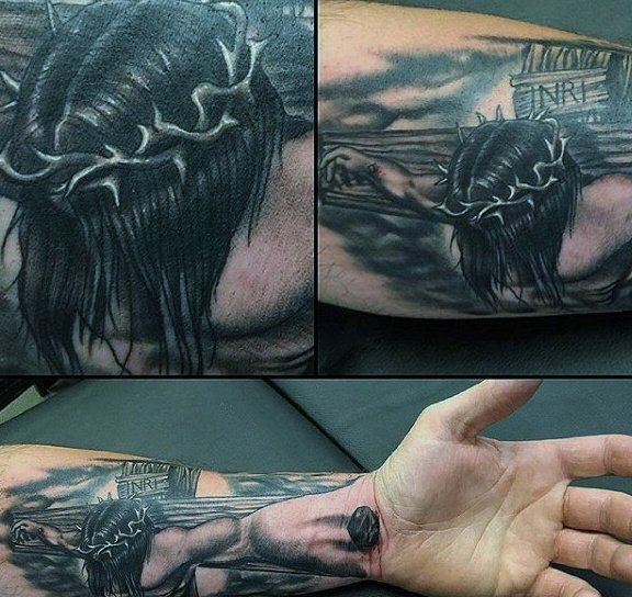 0858e6a0a Jesus Tattoos for Men - Ideas and Inspiration for Guys