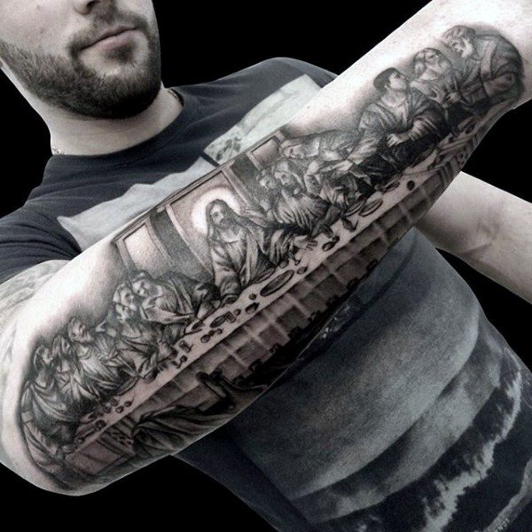 Jesus tattoos for men ideas and inspiration for guys for Jesus tattoos on arm