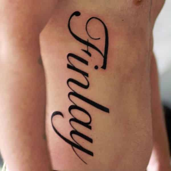 Name tattoos for men ideas and inspiration for guys for Best tattoo fonts for guys