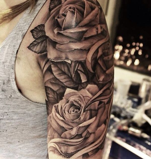 Rose tattoos for men ideas and inspiration for guys for Rose tattoos on arm