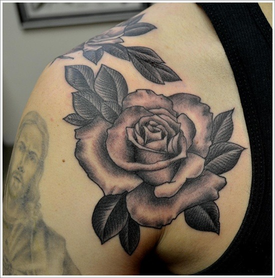 Rose tattoos for men ideas and inspiration for guys for Rose petal tattoo