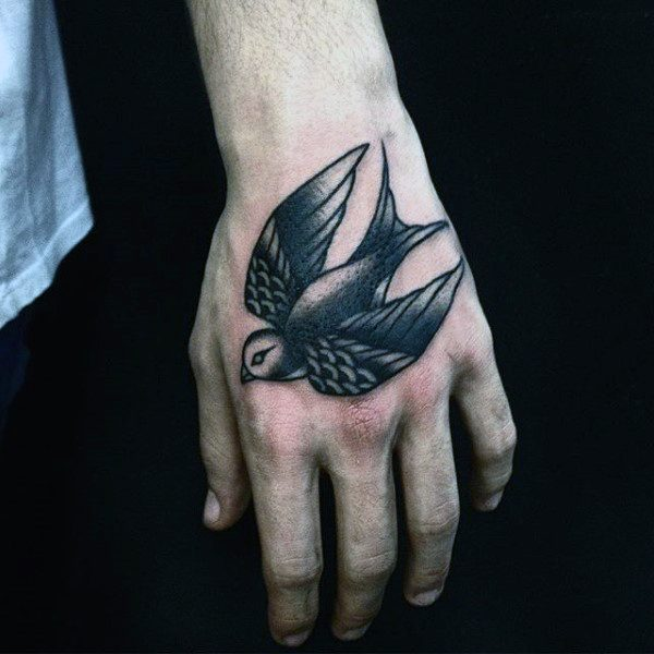 Sparrow tattoo for men - photo#16