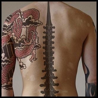 Spine Tattoo Ideas for men