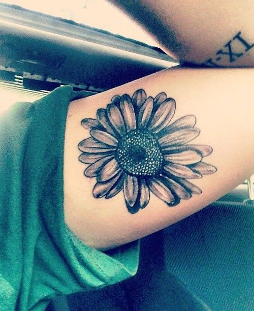 sunflower tattoos for men ideas and inspiration for guys. Black Bedroom Furniture Sets. Home Design Ideas