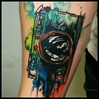 Watercolor Tattoos for men