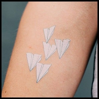 White Ink Tattoo Ideas for men