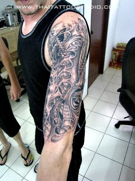 d58855867 Biomechanical Tattoos for Men - Ideas and Inspiration for Guys